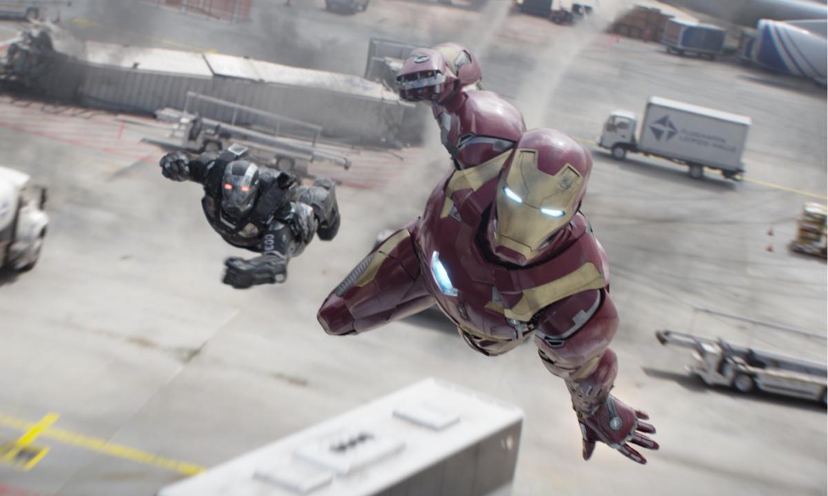 Flughafen Leipzig Iron Man War Machine