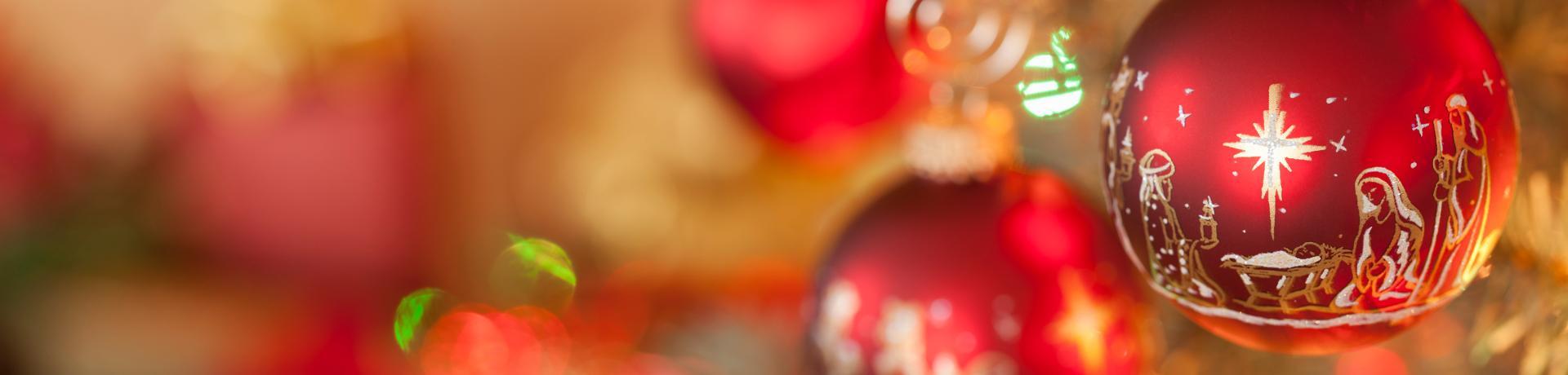 Weihnachten: Kugel - Krippe - Emotion