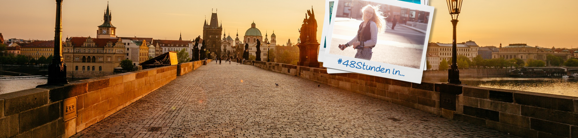 Tschechien: Prag Karlsbrücke Polaroid