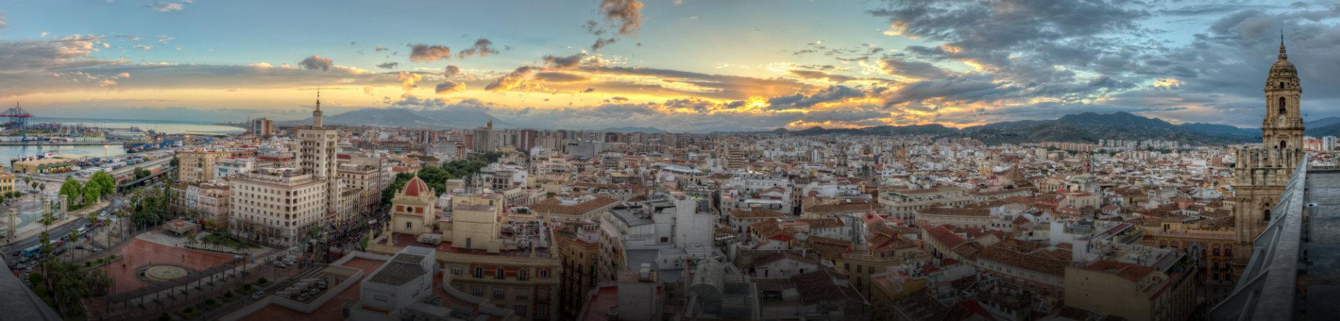 Malaga - Sonnenuntergang