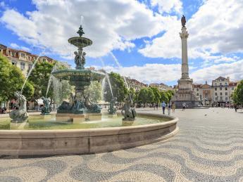 Rossio Platz - Lissabon