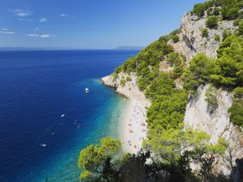 9108+Kroatien+Dalmatien+Makarska+Nugal_Strand+GI-612547384