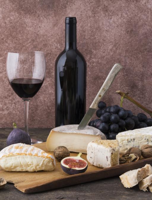 Frankreich: Essen Käse Wein