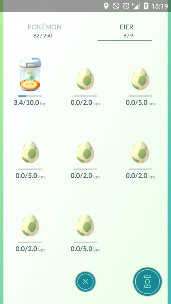 Pokémon Eier zum Ausbrüten