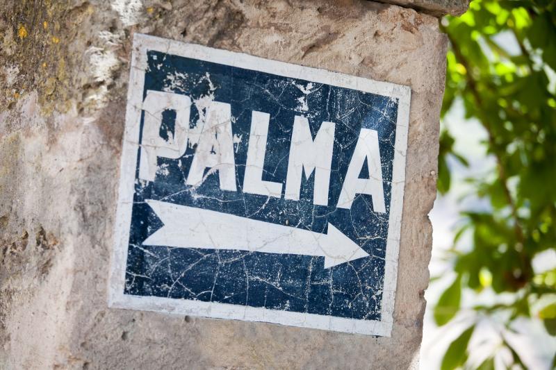 Spanien: Mallorca - Schild Palma