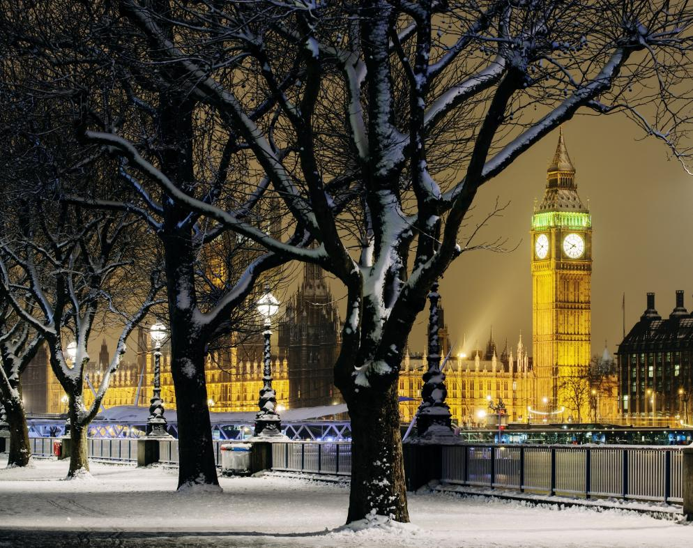 Großbritannien: London - Winter
